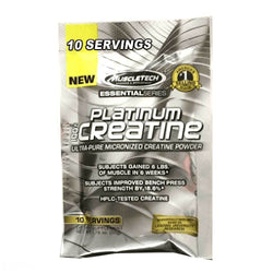 Creatine Monohydrate MuscleTech Platinum 100% Creatine [10 Servs] - Chrome Supplements and Accessories