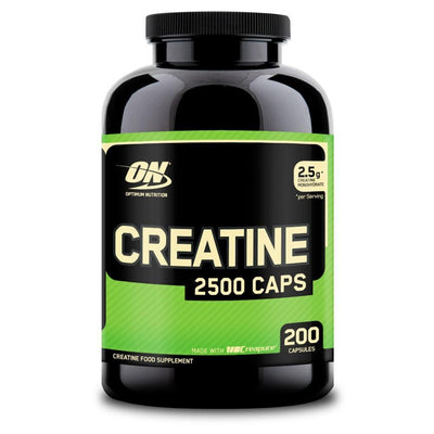 Creatine Monohydrate Optimum Nutrition Creatine 2500 [200 Caps] - Chrome Supplements and Accessories