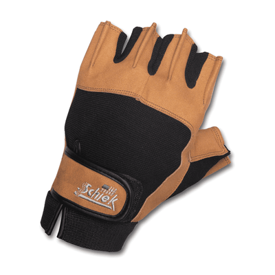 Gloves Schiek Power Series Gloves - With Wrist Wraps [Black] - Chrome Supplements and Accessories