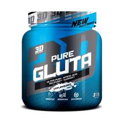 Glutamine 3D Nutrition Pure Gluta [300g] - NEW - Chrome Supplements and Accessories