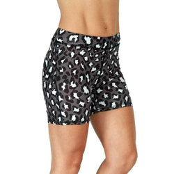 Ladies Clothing BW Athletic Ladies Leopard Hot Pants [Grey] - Chrome Supplements and Accessories