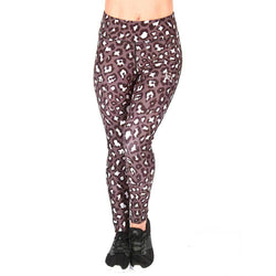 Ladies Leggings BW Athletic Ladies Leopard Leggings [Grey] - Chrome Supplements and Accessories