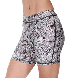Ladies Shorts BW Athletic Ladies Snake Skin Hot Pants - Chrome Supplements and Accessories