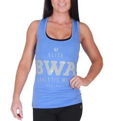 Ladies Vest BW Athletic Ladies Elite Racer Back [Blue] - Chrome Supplements and Accessories