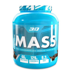 Mass Gainer 3D Nutrition Monstrous Mass [3kg] - Chrome Supplements and Accessories