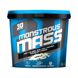 Mass Gainer 3D Nutrition Monstrous Mass [4.2kg] - NEW - Chrome Supplements and Accessories