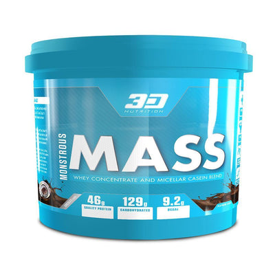 Mass Gainer 3D Nutrition Monstrous Mass [5kg] - Chrome Supplements and Accessories