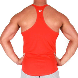 Men's Stringer BW Athletic Mens Athletic Stringer Vest [Red] - Chrome Supplements and Accessories