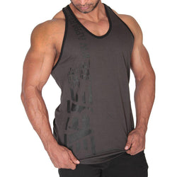 Men's Stringer BW Athletic Mens Logo Stringer Vest [Black] - Chrome Supplements and Accessories