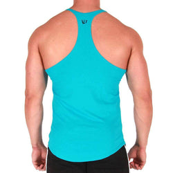 Men's Stringer BW Athletic Mens Zig Zag Stringer Vest [Turquoise] - Chrome Supplements and Accessories