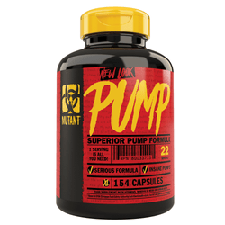 Nitric Oxide Booster Mutant Pump {154 Caps] - Chrome Supplements and Accessories