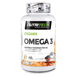 Omegas Nutritech Omega 3 [90 Caps] - Chrome Supplements and Accessories