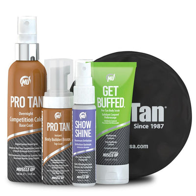 Self Tan Pro Tan Body Builder Kit [Single Use] - Chrome Supplements and Accessories