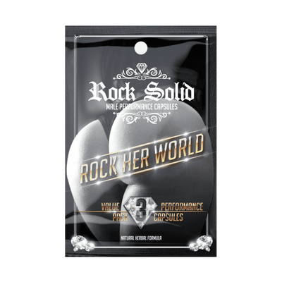 Sexual Health Rock Solid Box [25 Sachets] - Chrome Supplements and Accessories