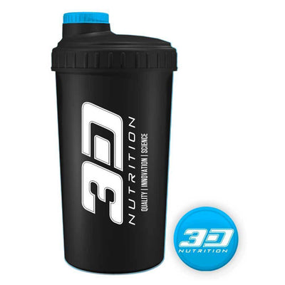 Shaker 3D Nutrition Shaker [700ml] - Chrome Supplements and Accessories