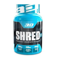 Stimulant Based Fat Burner 3D Nutrition Shred XT [60 Caps] - Chrome Supplements and Accessories