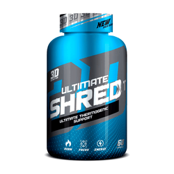 Stimulant Based Fat Burner 3D Nutrition Ultimate Shred XT [60 Caps] - NEW - Chrome Supplements and Accessories