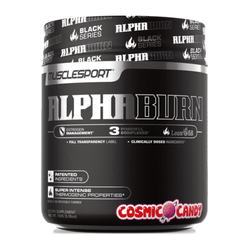 Stimulant Based Fat Burner MuscleSport Black AlphaBurn [150g] - Chrome Supplements and Accessories