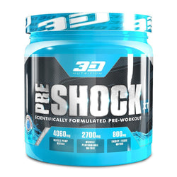Stimulant Based Pre-Workout 3D Nutrition Pre Shock XT [300g] - Chrome Supplements and Accessories