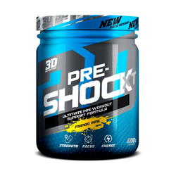 Stimulant Based Pre-Workout 3D Nutrition Pre Shock XT [600g] - NEW - Chrome Supplements and Accessories