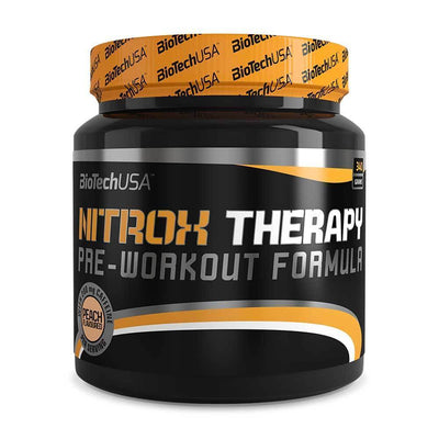 Stimulant Based Pre-Workout BioTech USA Nitrox Therapy [340g] - Chrome Supplements and Accessories