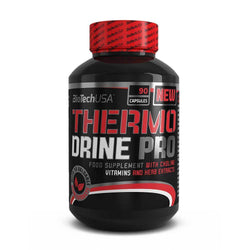 Stimulant Based Pre-Workout BioTech USA Thermo Drine Pro [90 Caps] - Chrome Supplements and Accessories