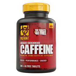 Stimulant Based Pre-Workout Mutant Caffeine [240 Caps] - Chrome Supplements and Accessories