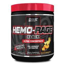 Stimulant Based Pre Workout Nutrex Hemo Rage Black Ultra Concentrate [285g] - Chrome Supplements and Accessories