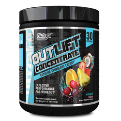 Stimulant Based Pre Workout Nutrex Outlift Concentrate [180g] - Chrome Supplements and Accessories