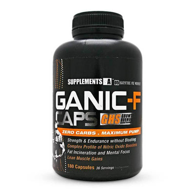 Stimulant Based Pre-Workout Supplements SA Ganic [180 Caps] - Chrome Supplements and Accessories
