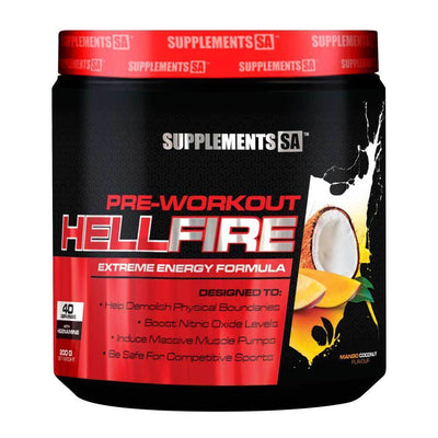 Stimulant Based Pre-Workout Supplements SA Hellfire [200g] - Chrome Supplements and Accessories