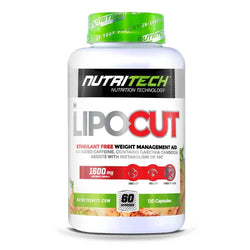 Stimulant Free Fat Burner Nutritech LipoCut [120 Caps] - Chrome Supplements and Accessories