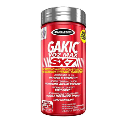 Stimulant Free Pre-Workout MuscleTech Gakic V02 Max SX 7 [128 caps] - Chrome Supplements and Accessories