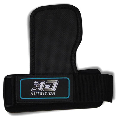 Straps 3D Nutrition 3D Fit Grips - With Wrist Support [Black] - Chrome Supplements and Accessories