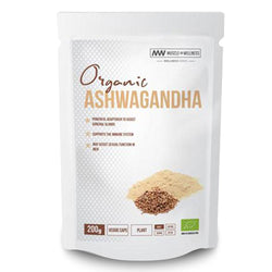 Superfood Muscle Wellness Organic Ashwagandha [200 Caps] - Chrome Supplements and Accessories