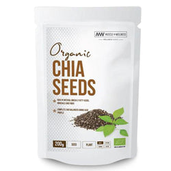 Superfood Muscle Wellness Organic Chia Seeds [200g] - Chrome Supplements and Accessories