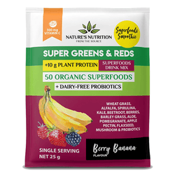Superfood Natures Nutrition Super Greens and Reds [25g]