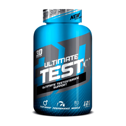 Testosterone Booster 3D Nutrition Test XT [120 Caps] - NEW - Chrome Supplements and Accessories