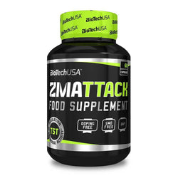 Testosterone Booster BioTech USA ZMAttack [60 Tabs] - Chrome Supplements and Accessories