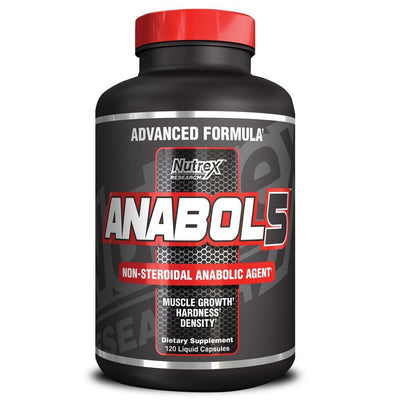 Testosterone Booster Nutrex Anabol 5 [120 Caps] - Chrome Supplements and Accessories