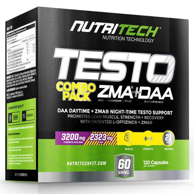 Testosterone Booster Nutritech Testo Pack [2in1 Box] - Chrome Supplements and Accessories
