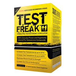 Testosterone Booster PharmaFreak Test Freak [120 Caps - Chrome Supplements and Accessories