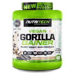 Vegan Mass Gainer Nutritech Gorilla Gainer [4kg] - Chrome Supplements and Accessories