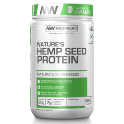 Vegan Protein Muscle Wellness Natures Hemp Seed Protein [500g] - Chrome Supplements and Accessories