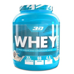 Whey Blend 3D Nutrition Whey Isocon [2kg] - Chrome Supplements and Accessories