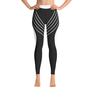Striped Symmetry Workout For Girls Yoga Leggings