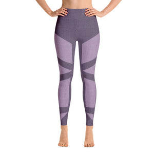 Colorful Abstract Purple Workout Yoga Leggings