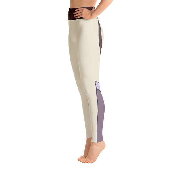Patterned Striped Brown Symmetry Yoga Leggings