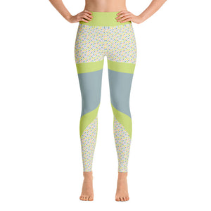 Patterned Mermaid Green Athletic Leggings