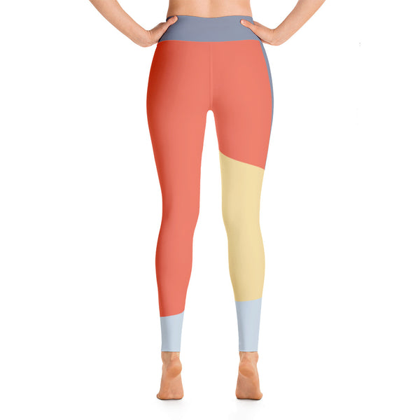 Colorful Multi Colored Running For Girls Yoga Leggings